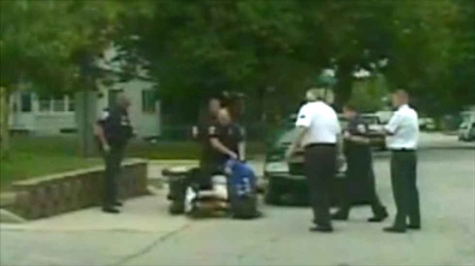 IN cop keeps job against bosses' wishes despite shoving man in wheelchair to the ground