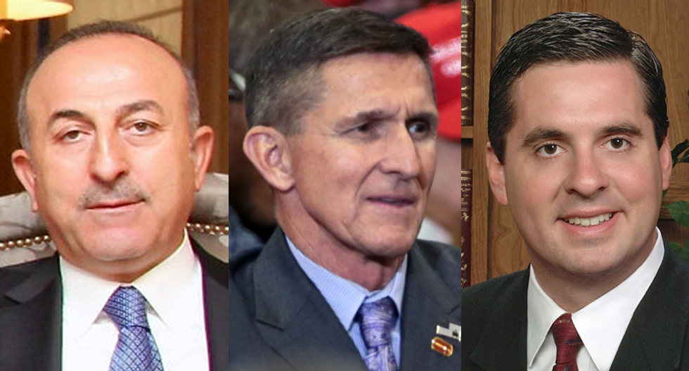 REVEALED: Devin Nunes attended mysterious breakfast meeting with Michael Flynn and Turkey's foreign minister
