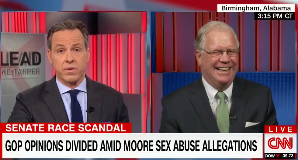 WATCH: Jake Tapper dismantles GOPer arguing journalists who cover Roy Moore allegations are 'peddling in gossip'