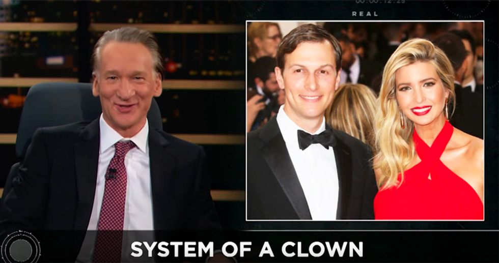 Maher pounds Jared Kushner as 'Trump's boy wonder -- and he has done nothing'