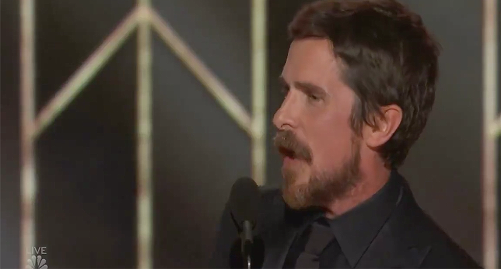 Conservatives lose it after Christian Bale thanks Satan for 'inspiring' him to play Dick Cheney