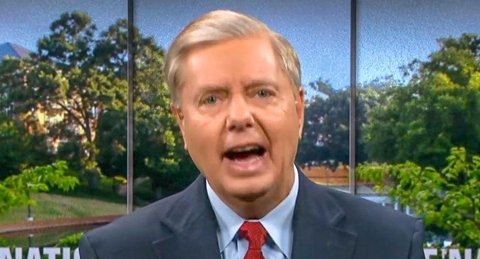 GOP senator ripped as 'the real villain' for defending Trump: 'Lindsey Graham has no shame anymore'