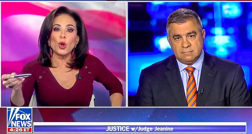 Roy Moore flummoxes Fox's Judge Jeanine: 'I spent career going after pedophiles... is the GOP destroying itself?'