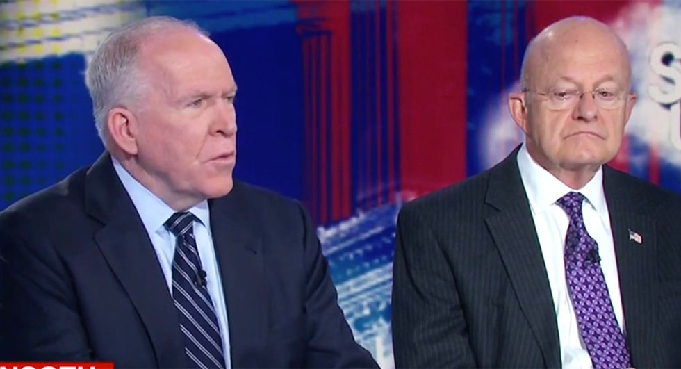 'Consider the source': Ex-intel heads Brennan and Clapper smack down Trump for calling them 'political hacks'