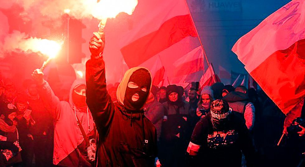 60,000 Neo-Nazis adopt Trump's 'We Want God' slogan for annual pro-white march in Poland