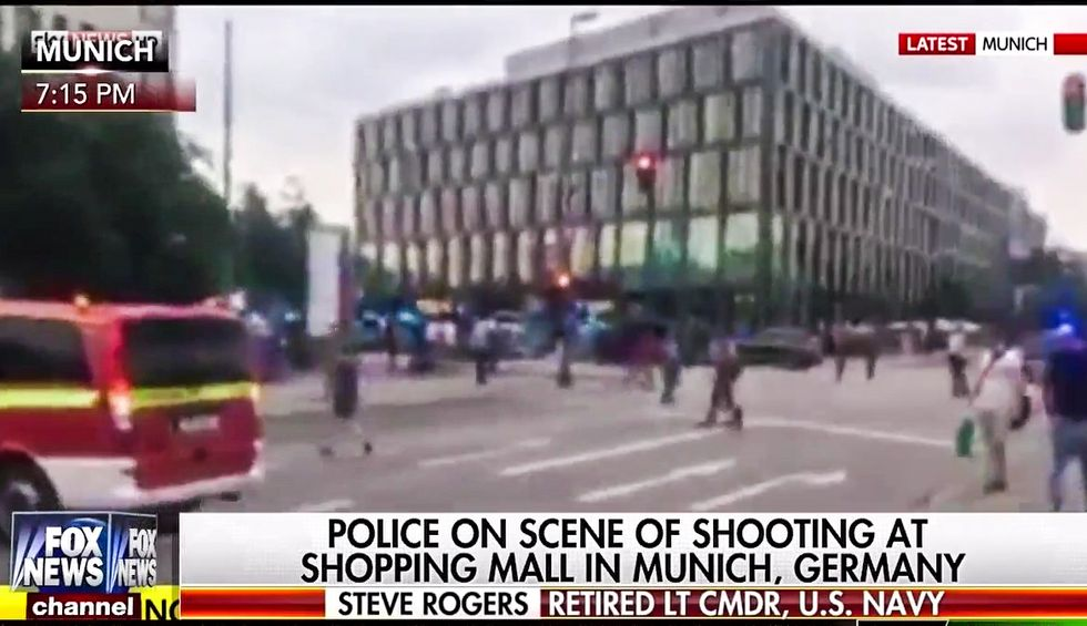 Fox immediately makes Munich shooting about U.S. gun laws: 'We're not going to have a country'