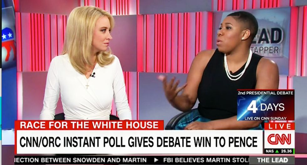 CNN panelist shoots down Pence debate 'win': He only won because he wasn't as 'crazy' as Trump