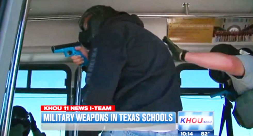 Texas school districts militarize campus cops with free surplus weapons, armored vehicles