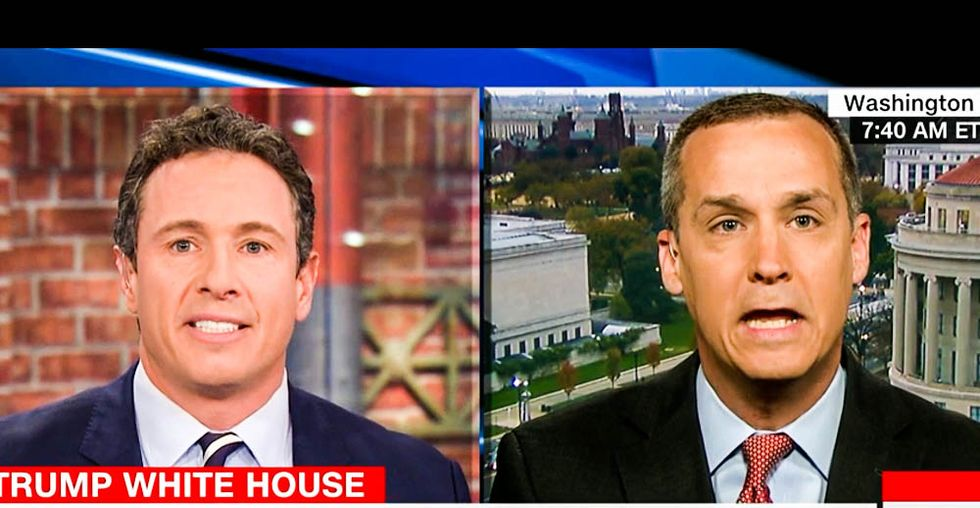 'Maybe you're a Russian agent!' Corey Lewandowski flails wildly at Chris Cuomo's sharp Russia probe grilling