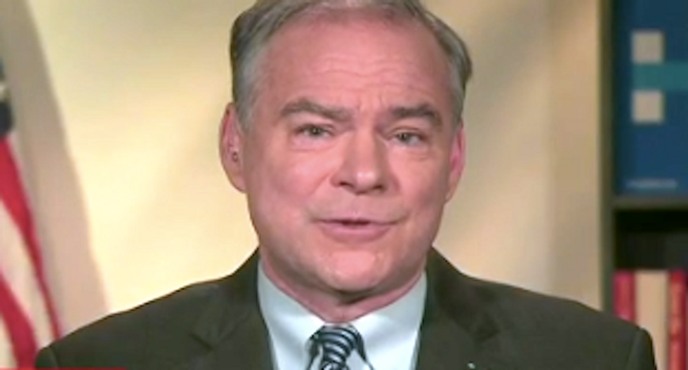 Tim Kaine baits Trump: 'His own running mate threw him under the bus — that's going to work on his head'