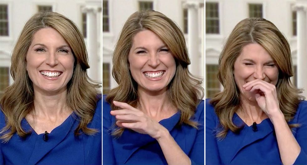 Nicolle Wallace cracks up laughing at Donald Trump Jr. desperately trying to get his own 'mud wrestling match' debate