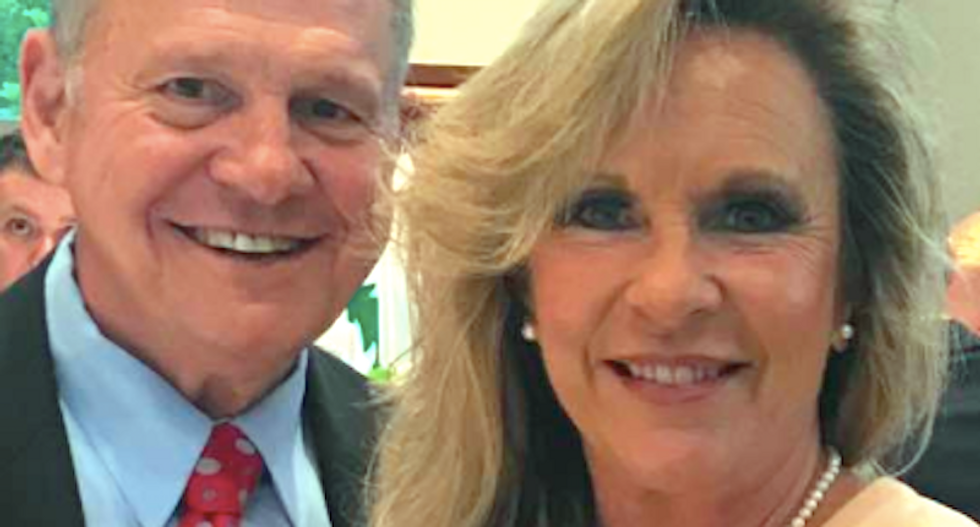 Roy Moore's wife says Trump personally called to give them 'his full support'