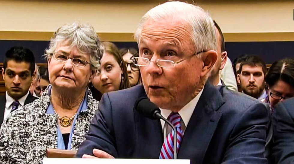 WATCH: Jeff Sessions gets testy as he's grilled by Sheila Lee over Russia contacts
