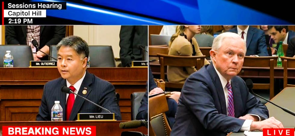 WATCH: Irritated Jeff Sessions lashes out after Rep. Ted Lieu accuses him of lying about Russia contacts