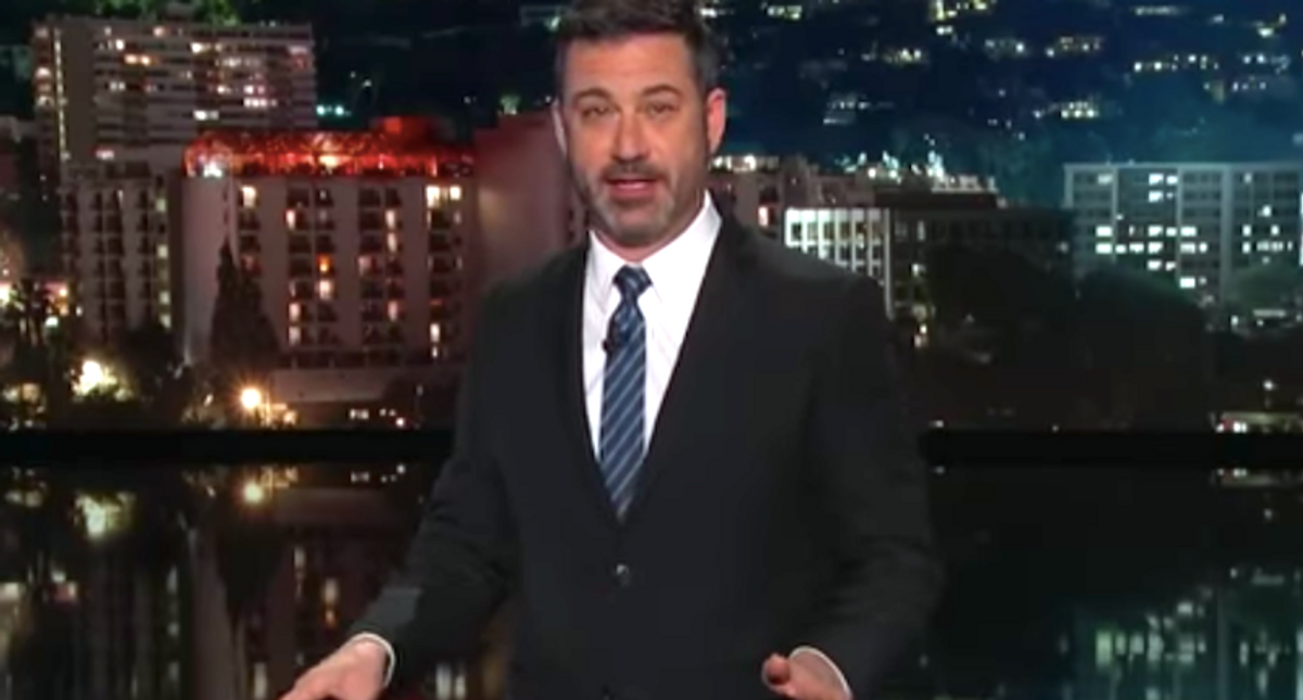Jimmy Kimmel mocks Trump's claim that his blog is a 'place to speak freely' — since people can't even comment on it
