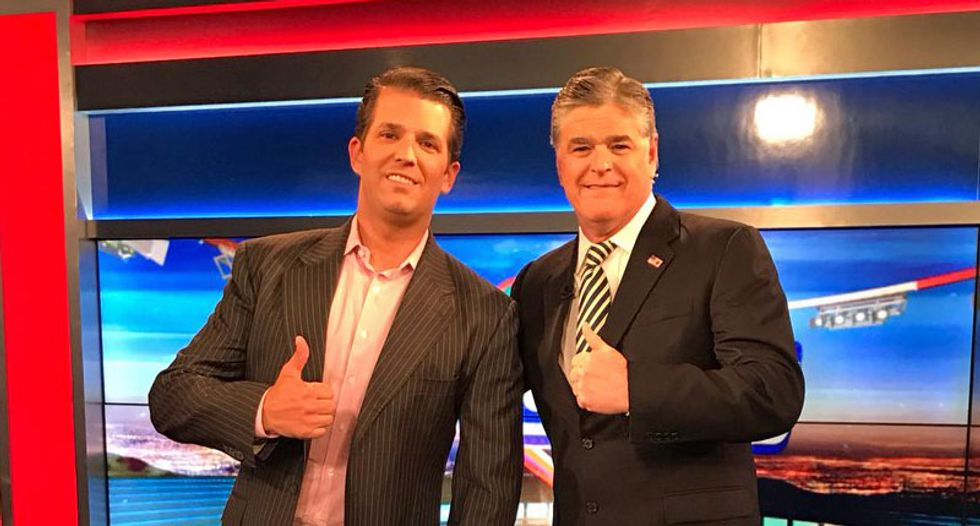 RNC is offering signed copies of Sean Hannity's new book for $75 after spending nearly $100,000 on Donald Trump Jr.'s book last year