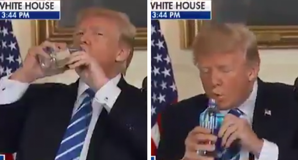 Trump claims 'Biden is incompetent while he's getting crowds to clap for drinking with one hand': reporter Yamiche Alcindor