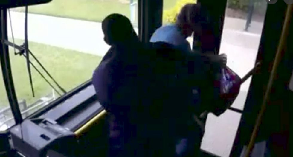 Black bus driver warns man to stop calling him the N-word -- then knocks him out when he spits on him