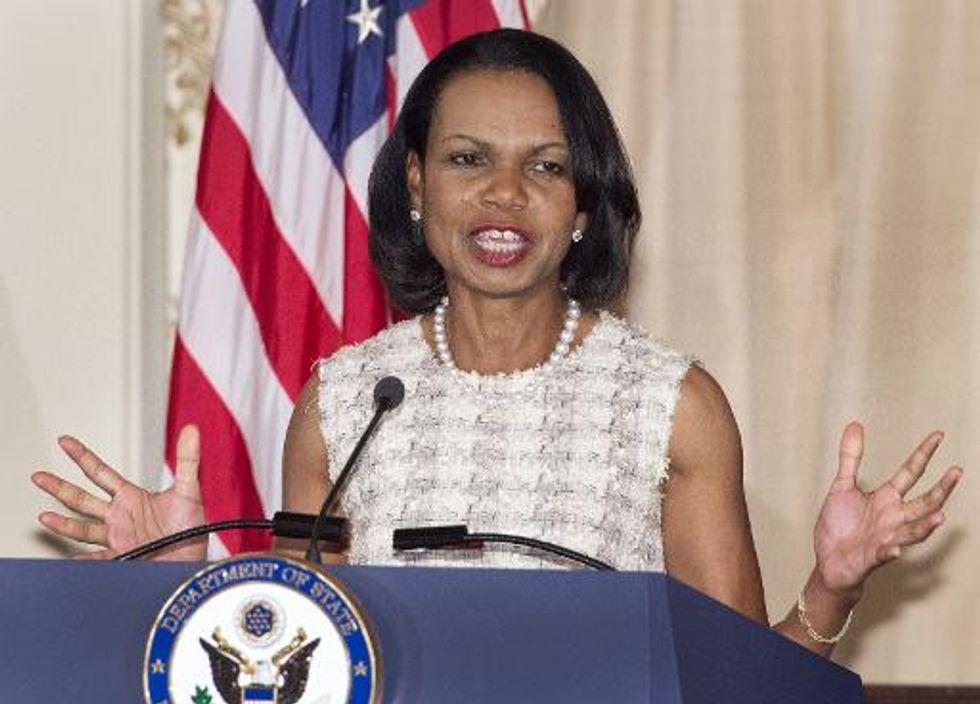 Ghost of Iraq haunts Condoleezza Rice portrait unveiling