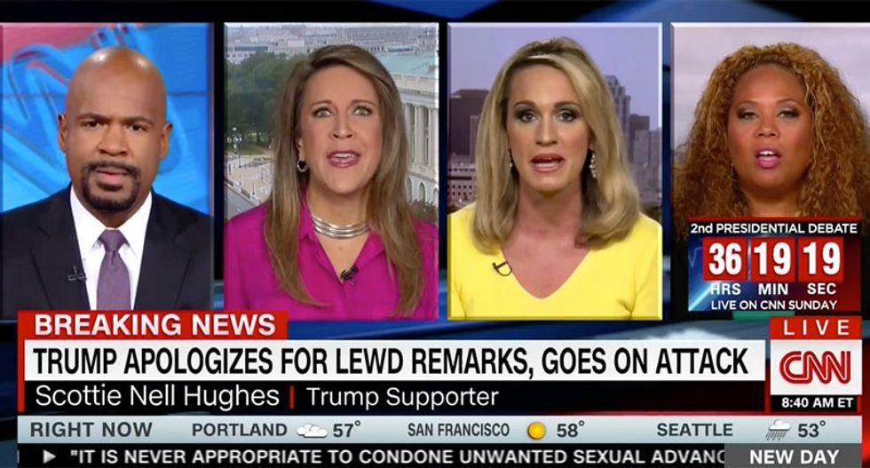 CNN panel destroys Scottie Nell Hughes's claim that women won't care about Trump's p*ssy comments