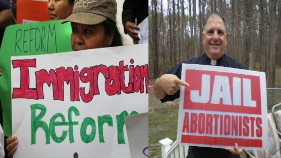 The next time a 'pro-lifer' says something bad about immigrants, show them this