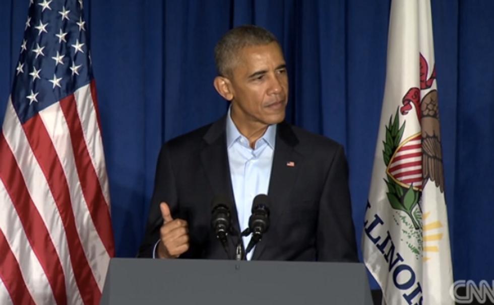 President Obama rips 'insecure' Trump: 'He pumps himself up by putting other people down'