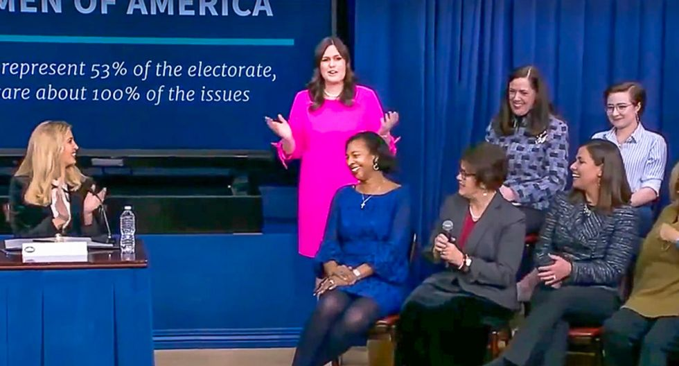 Sarah Sanders tells women's empowerment forum: Ask your husbands and boyfriends to buy you some jewelry
