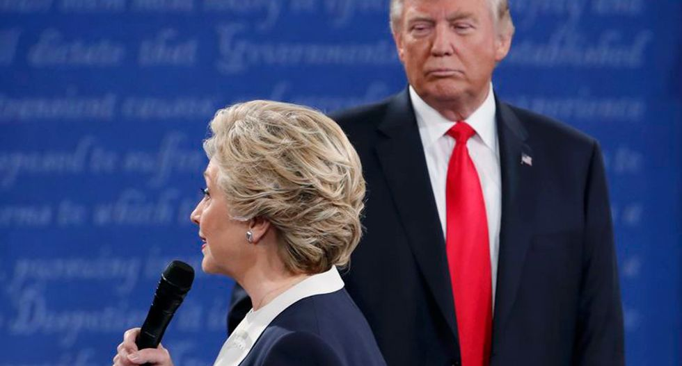 Trump stalked Clinton onstage at the debate — and women recognized him as a threat