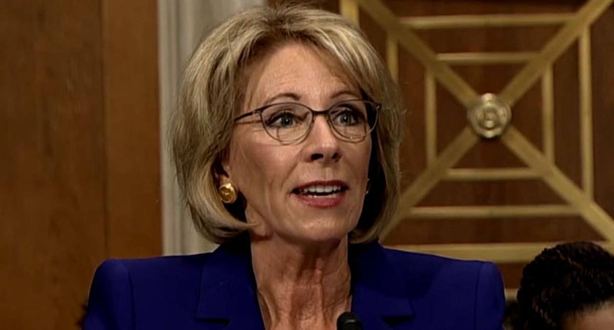 Betsy DeVos receives brutal send-off from teachers — and her own governor