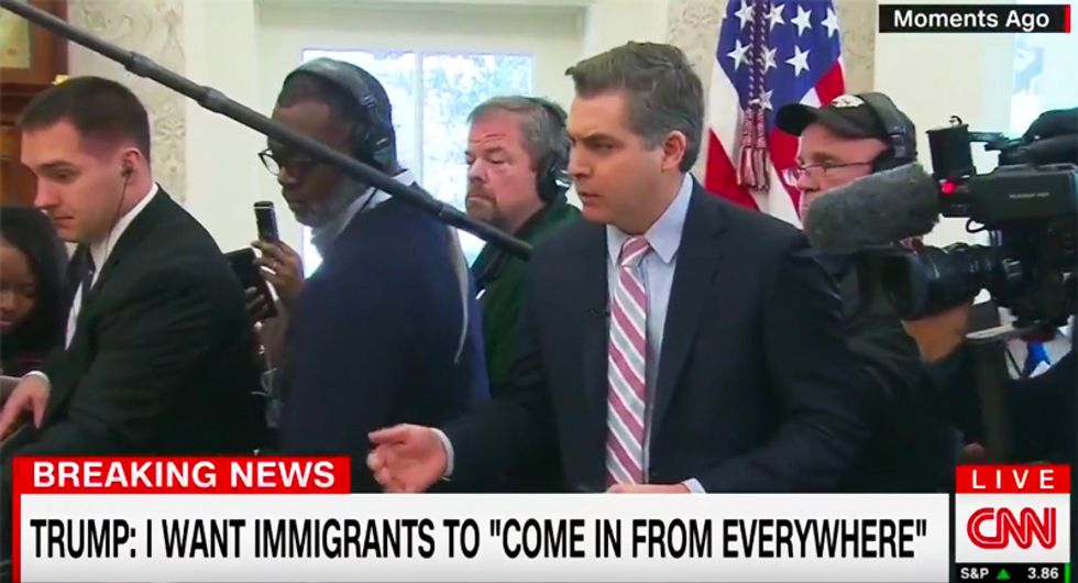 White House staffers scream at CNN's Jim Acosta after Trump points at him and says 'out'
