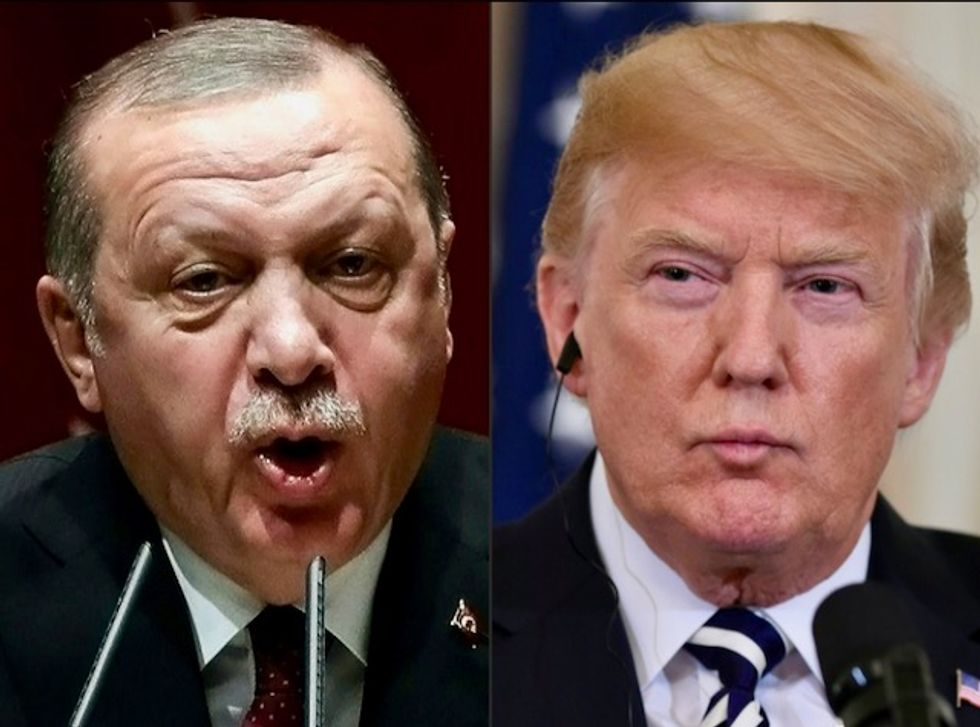 Internet disgusted after Erdoğan makes Trump and GOP senators watch propaganda video in the Oval Office