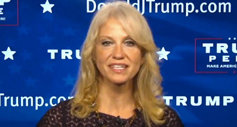Kellyanne Conway shrugs off Trump's call to jail Clinton as a 'quip'