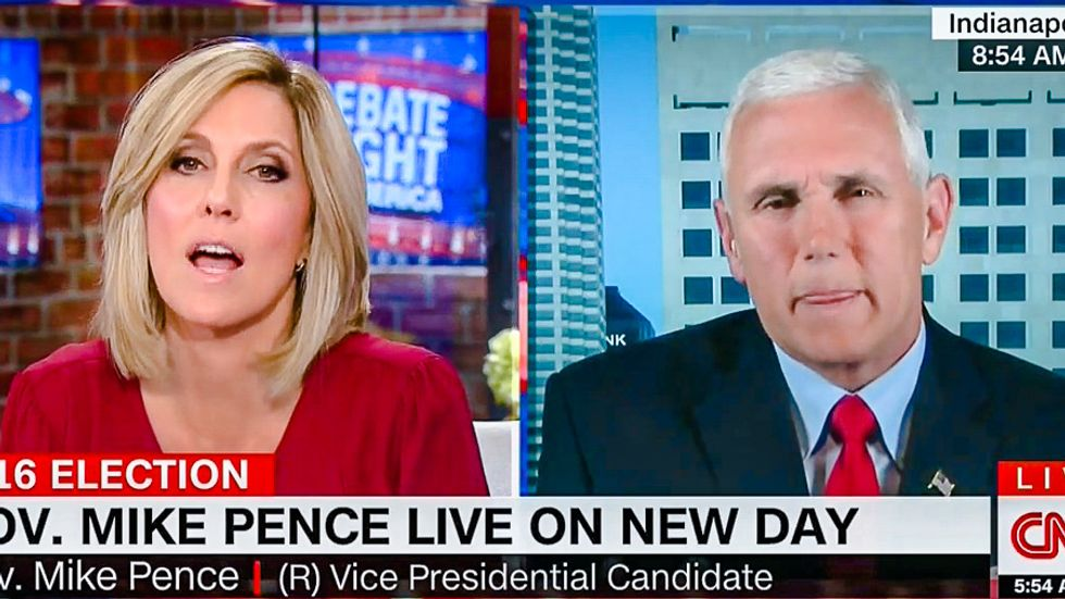 Pence turns rape apologist on CNN -- but goes down in flames denying Trump sexually assaulted women