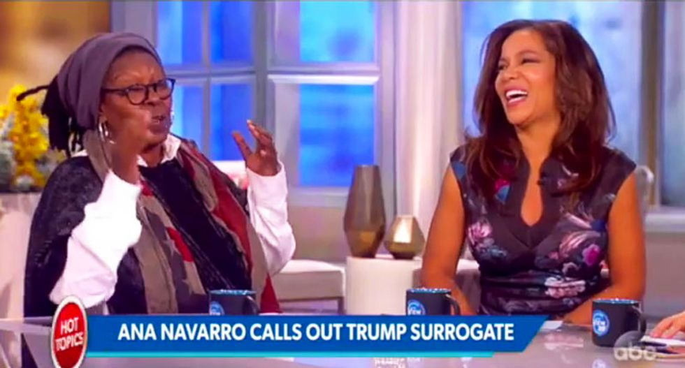 WATCH: The View dissolves into laughter at Scottie Nell Hughes getting destroyed by Ana Navarro