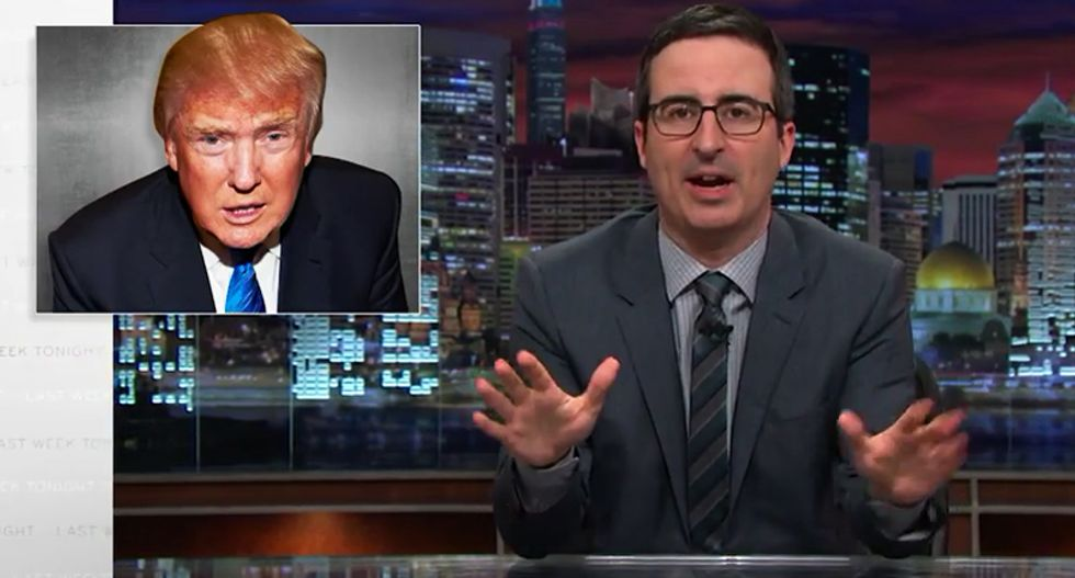 John Oliver dismantles 'racist toddler' Donald Trump's 'incoherent nonsense' about winning the debate