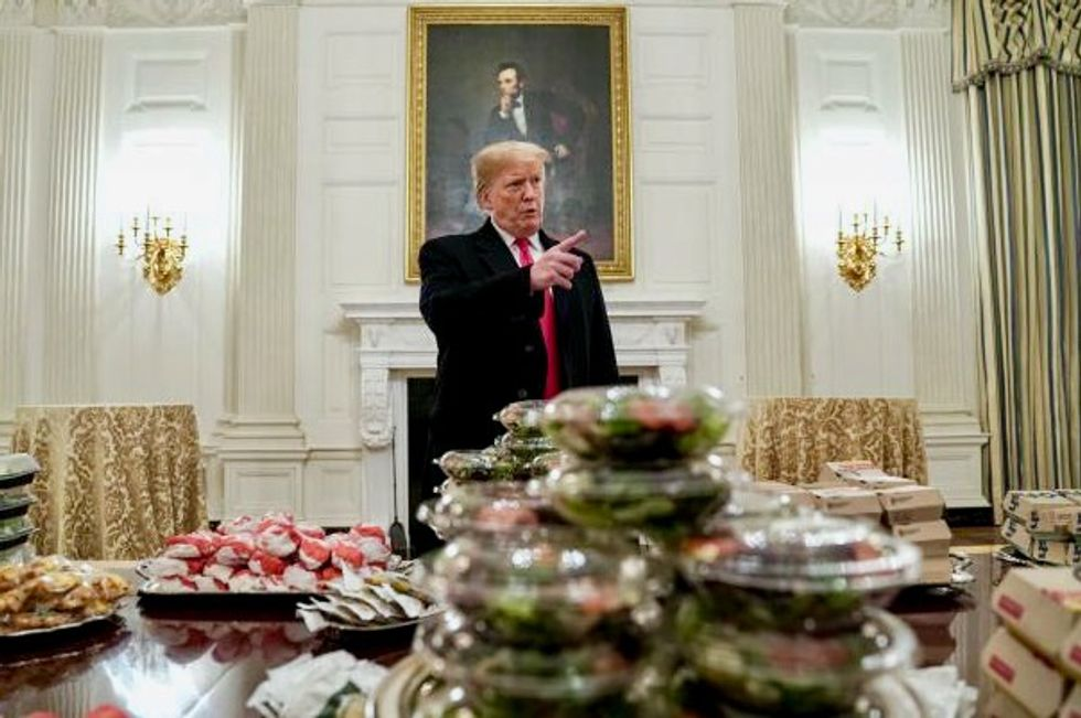 'Many, many french fries': Burgers by candlelight as Trump lays out fast food for Clemson football champs