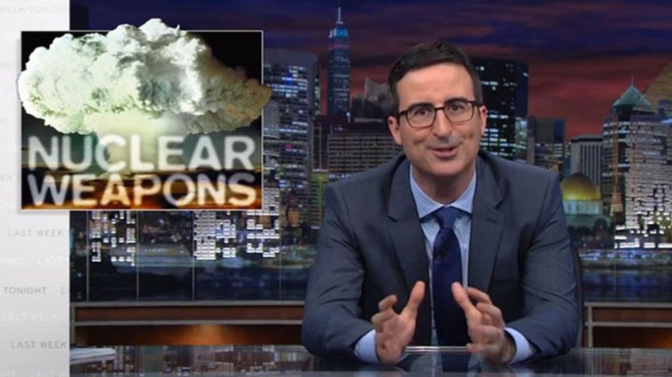 John Oliver: US uses 'weapons-grade bullsh*t' to rationalize massive nuclear arsenal