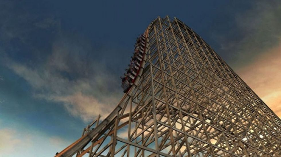 'Goliath,' world's fastest wooden roller coaster, opens in Illinois
