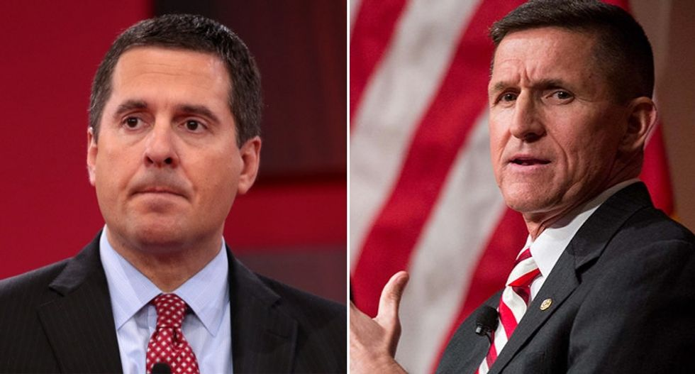 Mueller is investigating a meeting Devin Nunes and Mike Flynn had with foreign officials -- at Trump's DC hotel