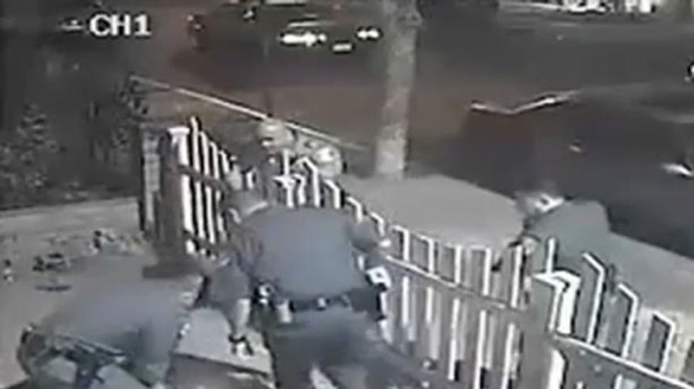 Caught on tape: Santa Ana police officers under investigation for beating of robbery suspect