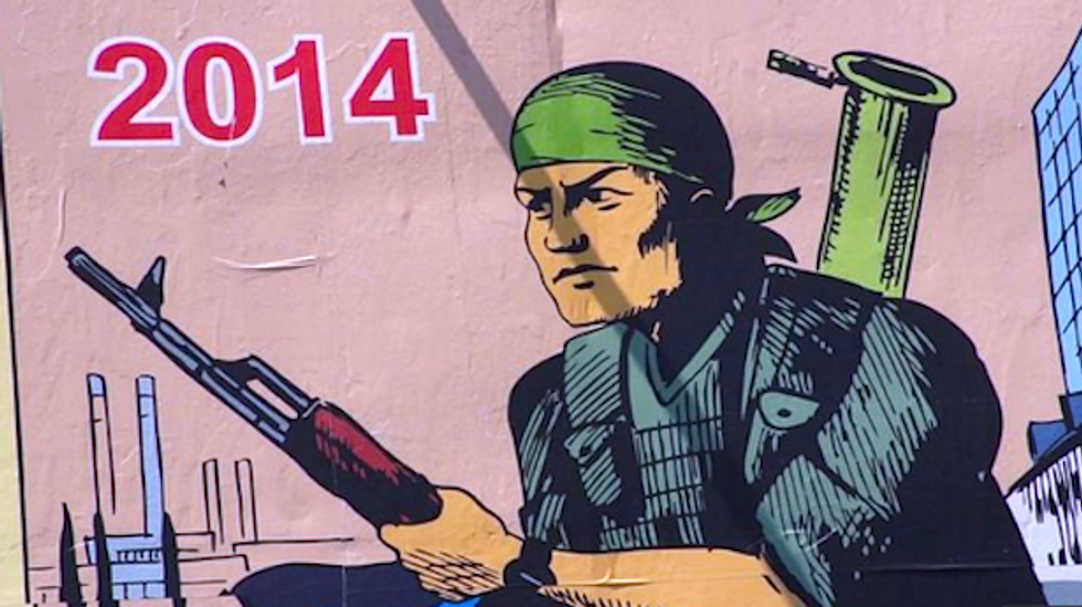 Ukraine rebels appeal to WWII spirit with Soviet propaganda