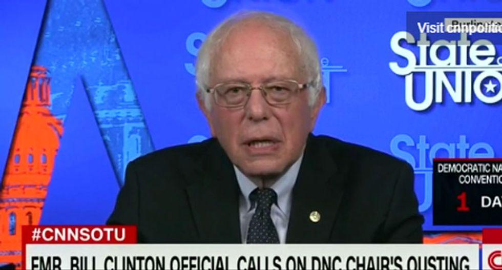 WATCH: Bernie Sanders has some harsh words for Debbie Wasserman Schultz