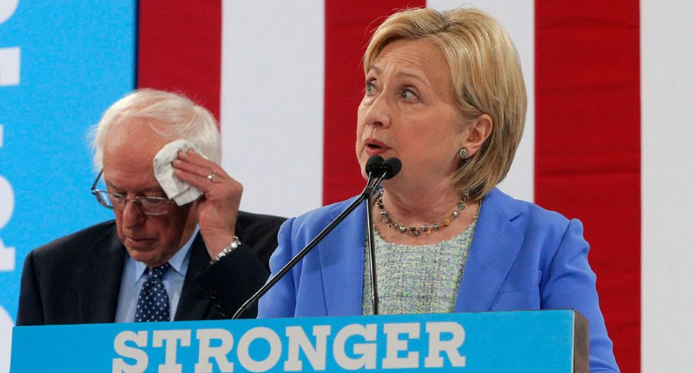 On eve of Democratic convention, Hillary Clinton struggles for party unity