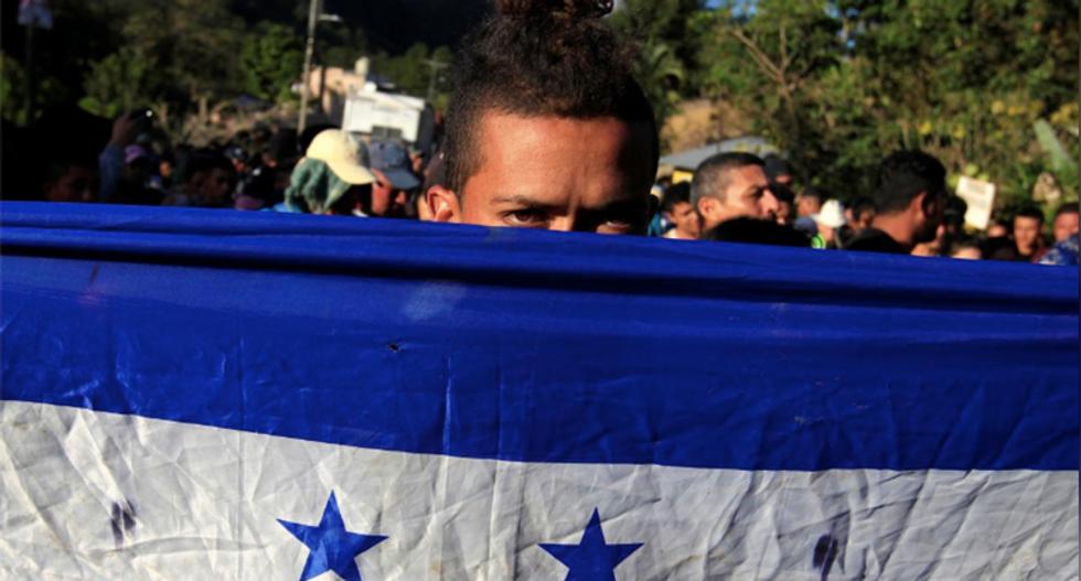 Hundreds in new US-bound migrant caravan cross into Guatemala