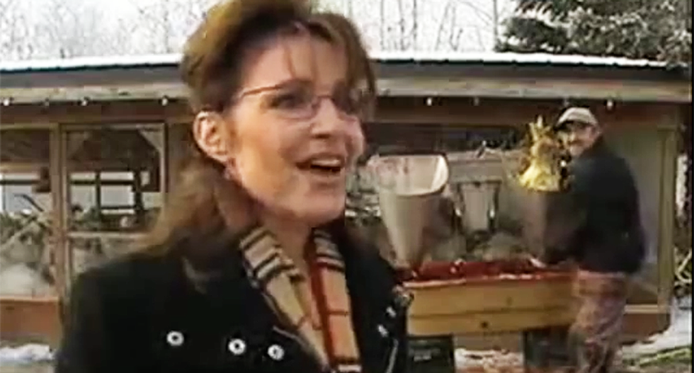 WATCH: That time Sarah Palin thought giving an interview in front of a turkey slaughter was a good idea