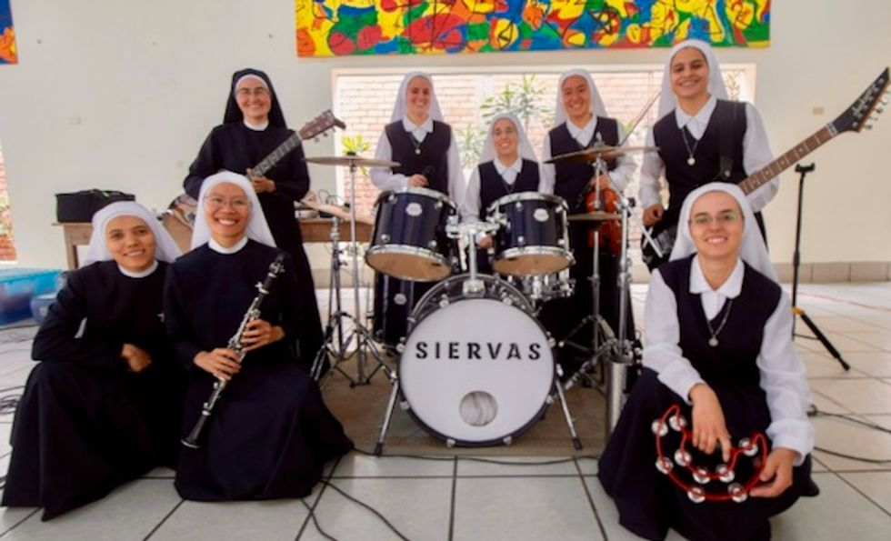 'It was God's plan that we come together': Rock and roll nuns to perform for pope in Panama