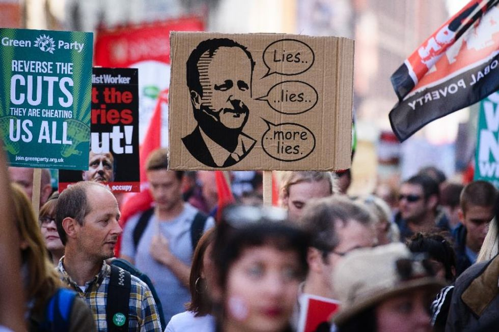 'End austerity now': Tens of thousands march against UK government
