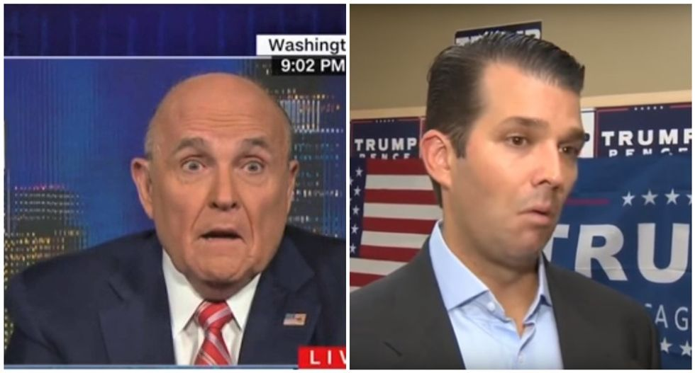 Trump ready to throw Don Jr under the bus: CNN panel explains potential motive behind Rudy Giuliani's meltdown