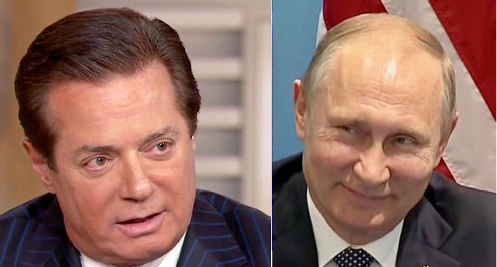 Here is why Manafort handing Trump's internal polling data to the Russians 'makes the case' for collusion: Clinton official