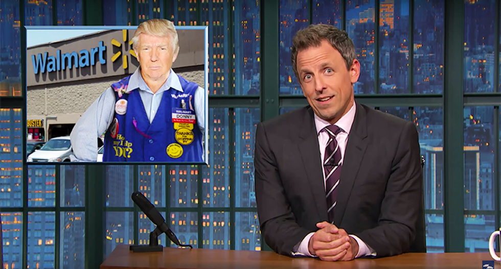 Seth Meyers rips 'superficial' Trump's 400-pound hacker claim: 'He fat-shamed a dude he just made up'